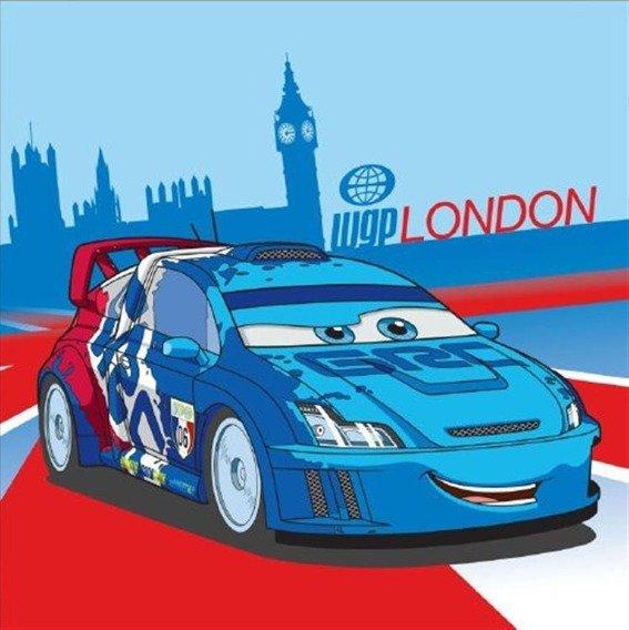 Bajkowy ręcznik 30x30 Detexpol Cars london