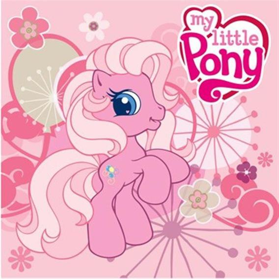 Bajkowy ręcznik 30x30 Detexpol My Little Pony różowy