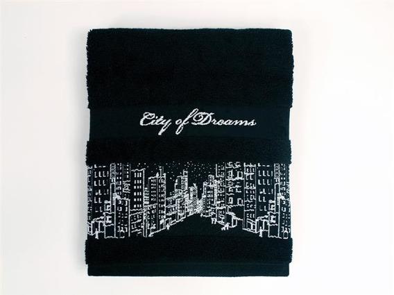 City Of Dream Czarny recznik bawełniany Greno