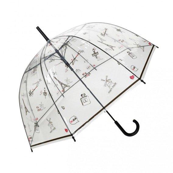 Długi parasol przezroczysty kopuła, Paris a la mai