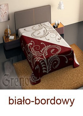 Dwukolorowy Koc Sevilla  GRENO bordowy