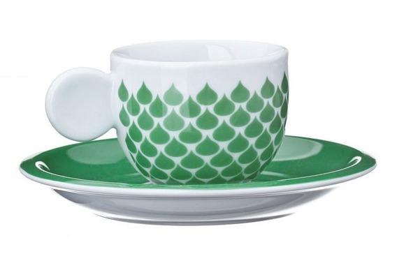Filiżanka do espresso GOCCE United Colors of Benetton, 4 kolory zielony