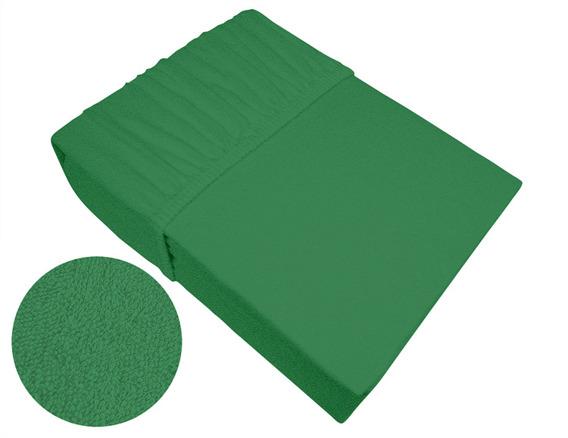 Prześcieradło frotte z gumką Frotex zielone 019