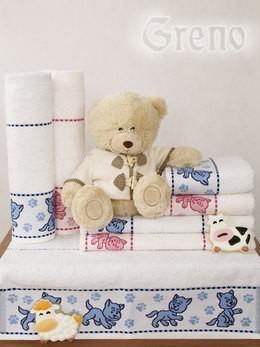 Ręcznik TOFIK Greno biało-niebieski