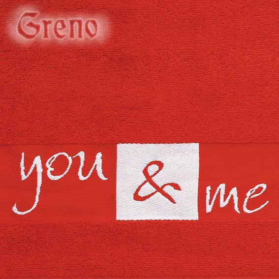 Ręcznik YOU & ME Greno czerwony
