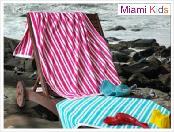 Ręcznik plażowy MIAMI KIDS, 2 kolory Greno różowy