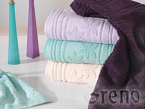 Ręcznik z mikrobawełny Laura GRENO burgund