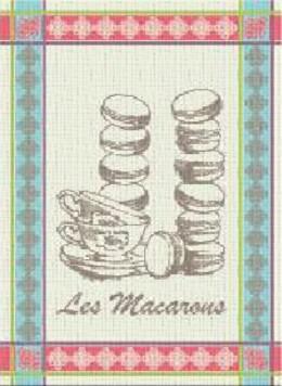 Ściereczka kuchenna MACARONS Greno, 2 kolory niebieski