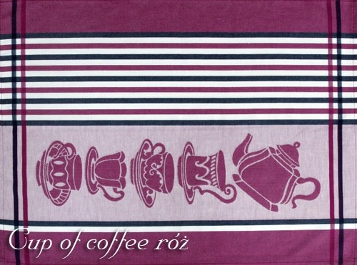 Ściereczki kuchenne, 2 kolory CUP OF COFFEE Greno różowy